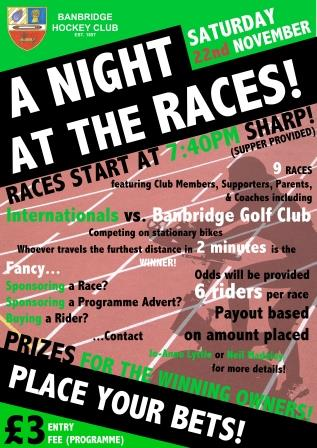 NIGHT AT THE RACES – 22 NOV