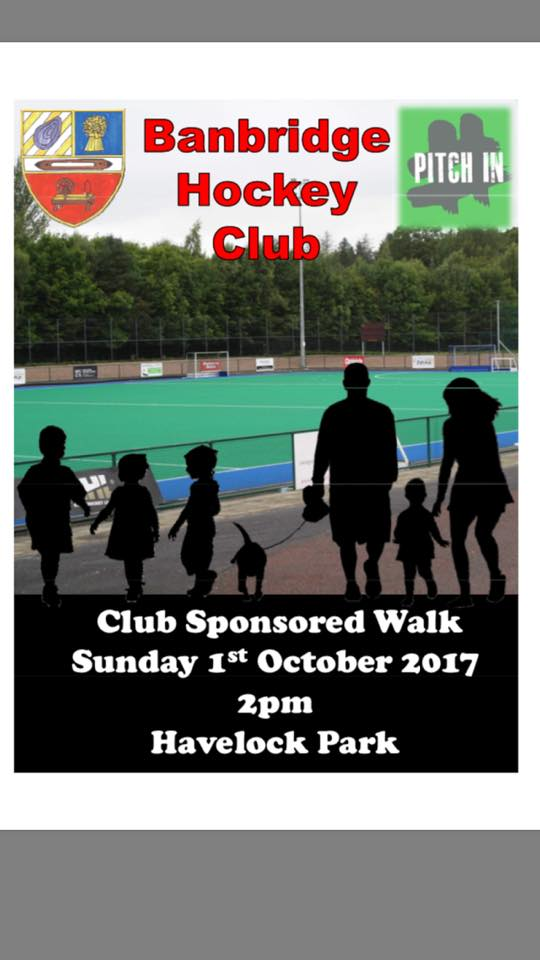 CLUB SPONSORED WALK – 1 OCT